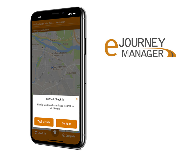 eJourney Manager mobile application created by Vog App Developers Calgary. A mobile software development company located in Calgary., Alberta.