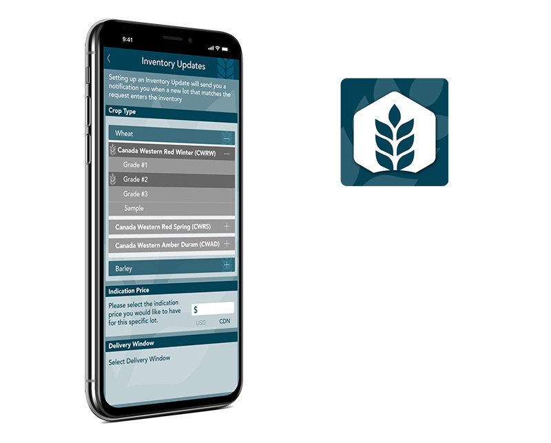 Johnston Grain mobile application created by Vog App Developers Calgary. A mobile software development company located in Calgary.